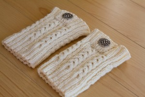 Photos of Knitted Boot Cuff Pattern