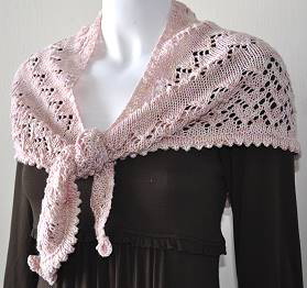 Lace Triangle Shawlette Knitting Pattern Pictures