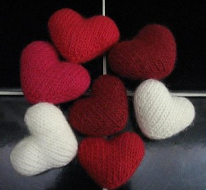Images of Little Hearts Knitting Pattern