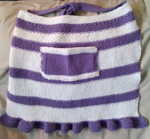 Picture of Mix Stitch Apron Knitting Pattern