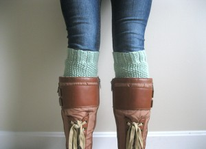 Moss Stitch Boot Cuff Knitting Pattern Pictures