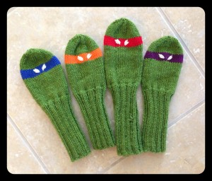 Ninja Turtle Golf Head Covers Knitting Pattern Photos