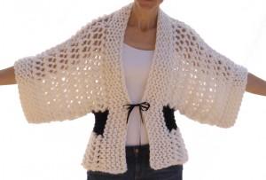 Open Knit Kimono Pattern Images