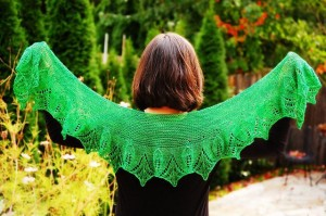 Primavera Shawlette Knitting Pattern Photos