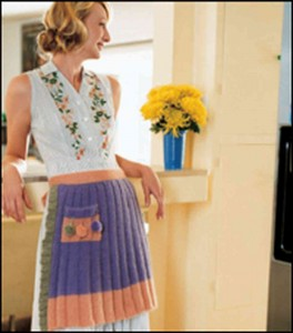 Images of Saucy Apron Knitting Pattern
