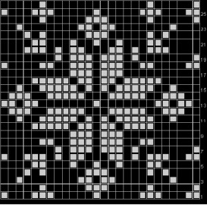 Snowflake Knitted Pattern  Photos