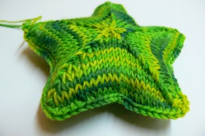 Photos of Star Cushion Knitting Pattern