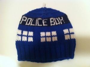 Pictures of Tardis Hat Knitting Pattern