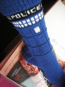 Images of Tardis Socks Knitting Pattern