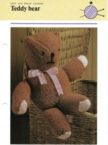Teddy Bear Knitted Pattern Images