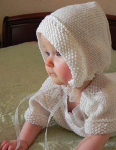 Traditional French Knit Baby Bonnet Pattern Images