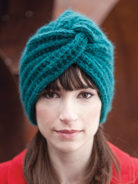 Fine Knitted Turban Hat Pattern Crest Easy Scarf Knitting Patterns