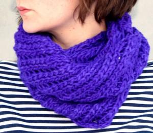 Twist Neck Warmer Knitting Pattern Photos