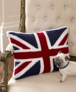 Union Jack Pillow Knitting Pattern Images