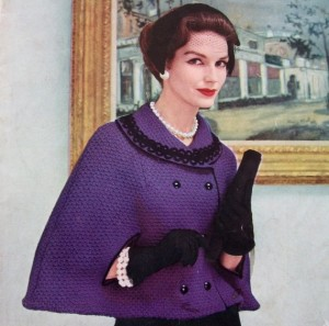 Pictures of Vintage Capelet Knitting Pattern