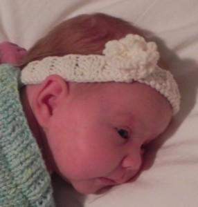 Baby Headband Knitting Pattern Image