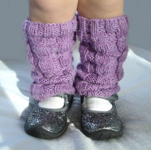 Baby Leg Warmer Cable Knitting Pattern Photo