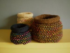 Basket Knitting Pattern Iamge