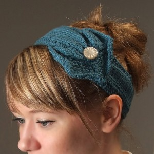 Button Headband Knitting Pattern Photos