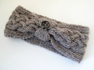 Cable Knit Headband Patterns with Button Picture