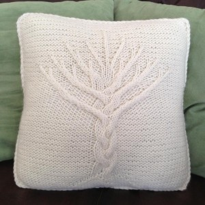 Cable Knitting Pillow Cover Pattern Photos