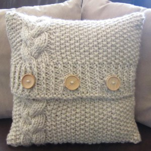 Chunky Cable Knit Pillow Cover Pattern Pictures