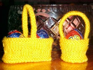Pictures of Easter Egg Basket Knitting Pattern