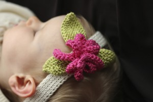 Flower Baby Knit Headband Pattern Picture