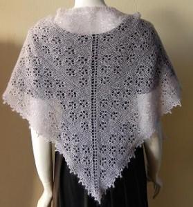 Free Knit Lace Shawl Pattern Image