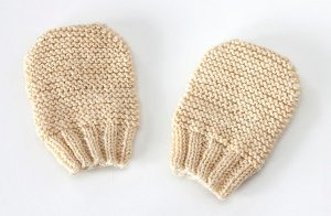 Free Newborn Scratch Mitten Knitting Pattern Picture