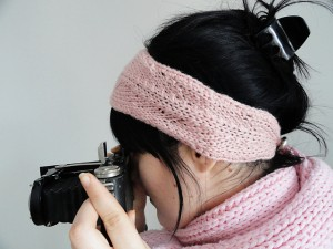 Headband Knitting Patterns with Button Images