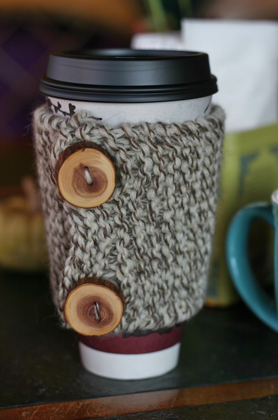 Knit Coffee Cozy Patterns | A Knitting Blog