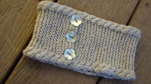 Knit Headband Pattern with Button Pictures