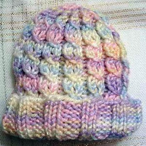 Knit in the Round Cabled Baby Hat Pattern Pictures