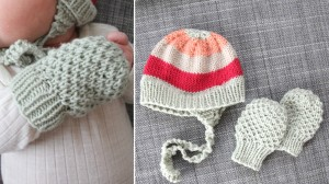 Knitted Baby Mittens Pattern Photos
