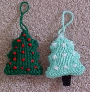 Knitted Christmas Tree Ornament Pattern Photos