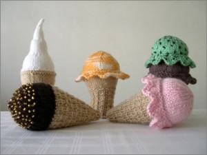Knitting in the Round Ice Cream Cone Pattern Images