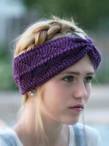 Photos of Loom Knit Anchor Headband Pattern