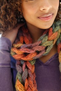 Loose-Knit Scarf Pattern Pictures