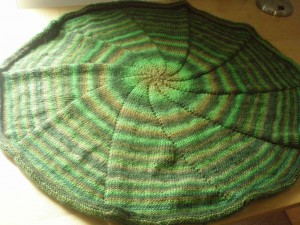 Images of Round Knit Striped Circular Blanket Pattern