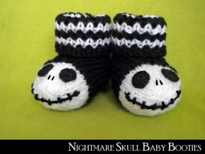 Skull Baby Booties Knitting Pattern Pictures