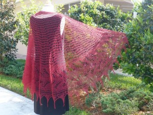 Sweet Lily Knit Lace Shawl Pattern Images
