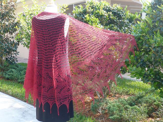 Lace Shawl Knitting Pattern A Knitting Blog