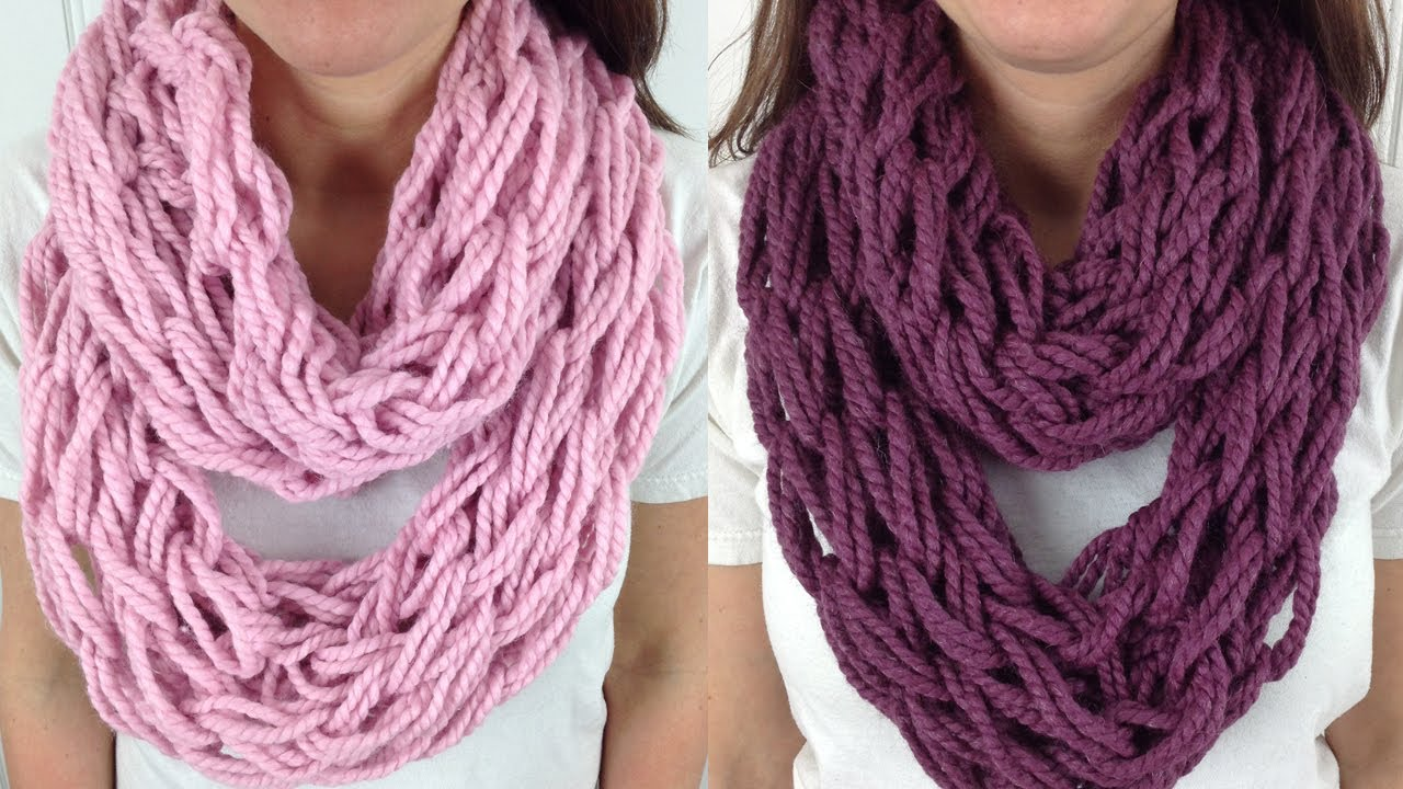 Arm Knitting Cowl : Arm knitting scarf patterns a