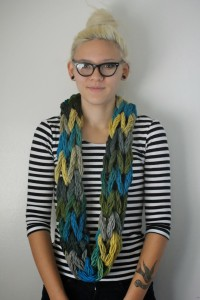 Picture of Arm Knit Infinity Scarf Tutorial