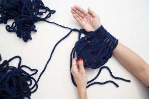 Arm Knitting Scarf Step By Step Photos