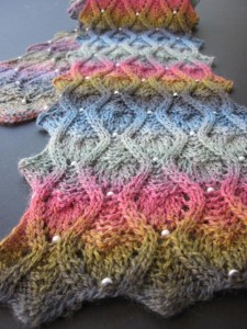 Pictures of Bead Scarf Knitting Pattern