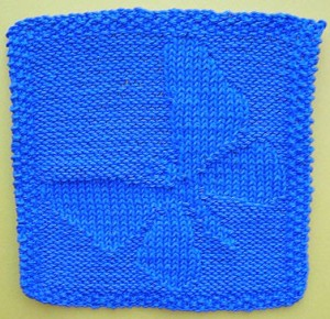 Butterfly Face Cloth Knitting Pattern Images
