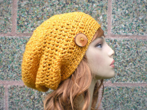 Buttoned Knit Beanie Pattern Pictures