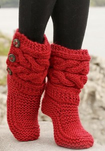 Buttoned Knit Boot Patterns Pictures